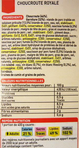 conservateur paquet ingrédient aliment non sain